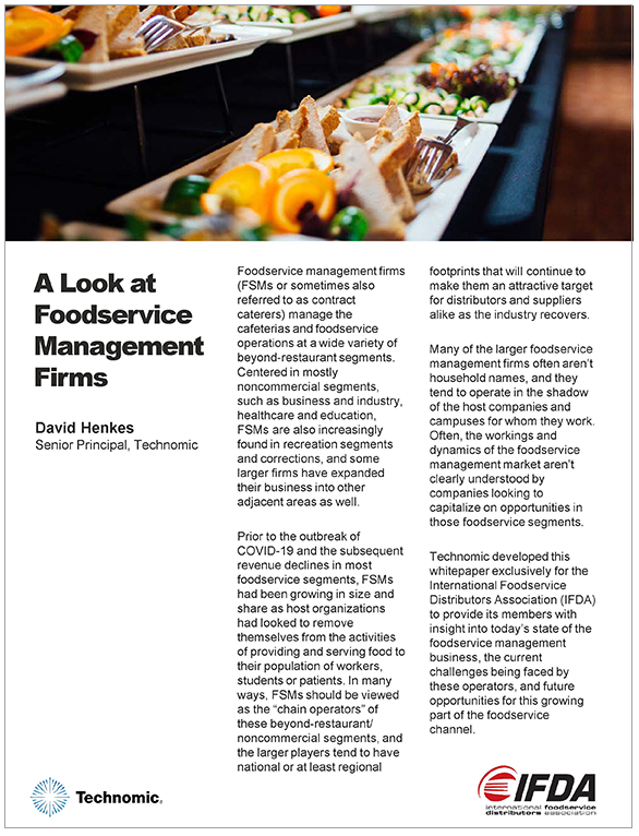 Thumbnail of A Look at Foodservice Management Firms