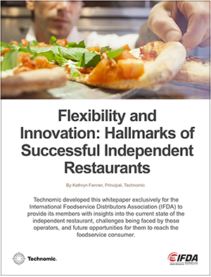 New IFDA whitepaper offers ideas for distributors to serve their independent restaurant customers.
