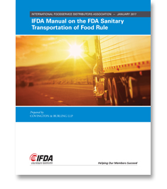 IFDA Manual on the FDA Sanitary Transportation of Food Rule