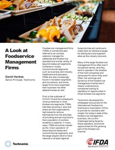 A Look at Foodservice Management Firms