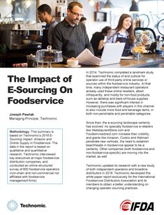 The Impact of E-Sourcing on Foodservice